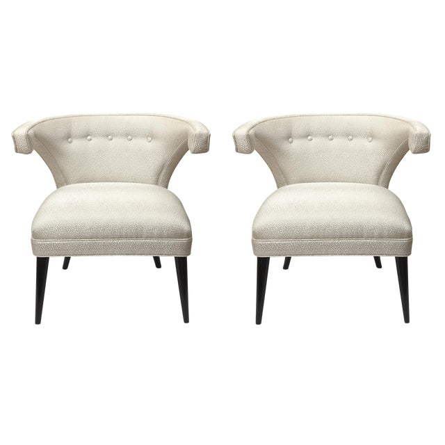 Mid-Century Modern Tommi Parzinger Side Chairs - a Pair For Sale