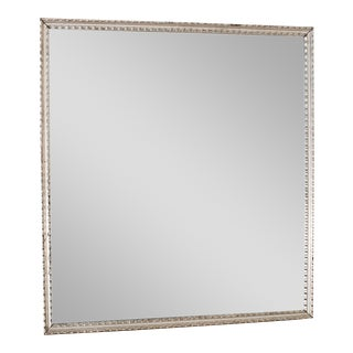 Antique French Silver Leaf Rectangular Mirror circa 1890 For Sale