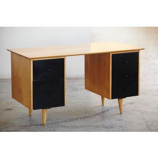1950s Mid-Century Modern 5 Drawer Double Sided Writing Desk Preview