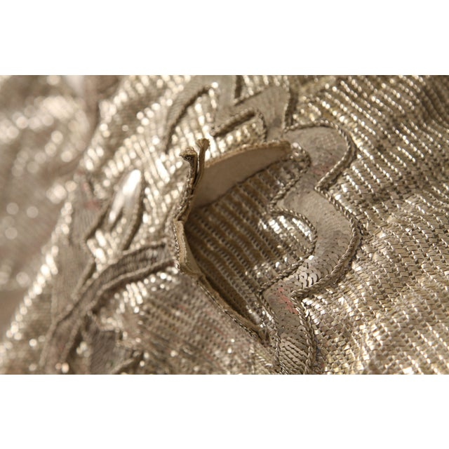 French 1930s Silver Thread & Sequin Fabric - Image 4 of 7