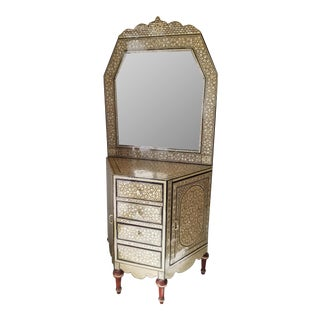 Syrian Mother of Pearl Handcrafted Cabinet with Mirror