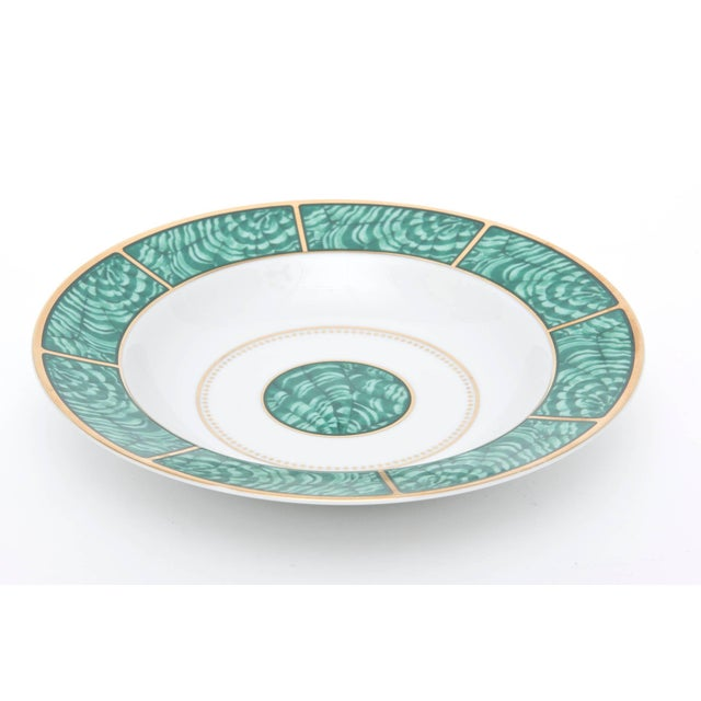 Mid-Century Modern Georges Briard Imperial Malachite Porcelain China Service - Set of 16 For Sale - Image 3 of 10
