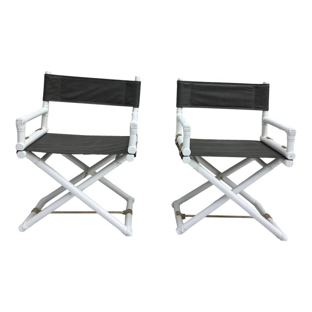 McGuire Directors Chairs, 2 For Sale