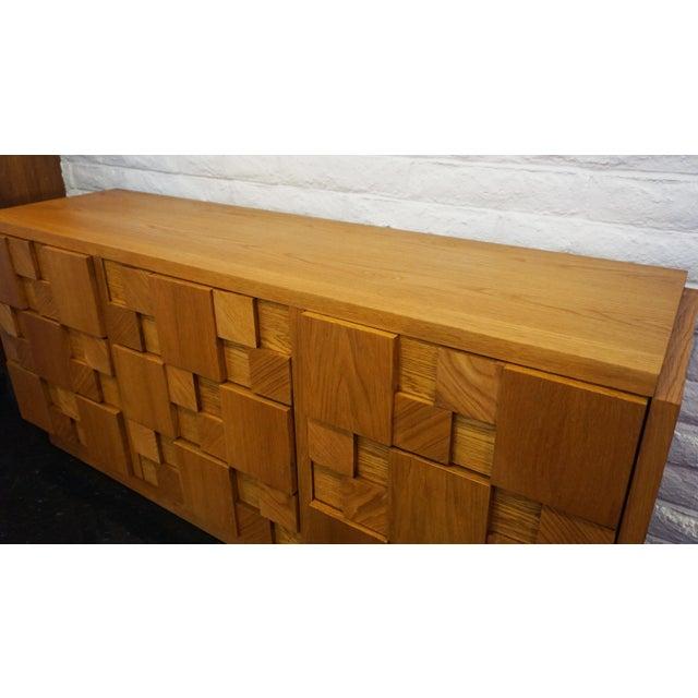 Brutalist Mid-Century Lane Brutalist Dresser For Sale - Image 3 of 7