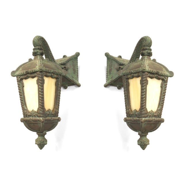Traditional American Victorian Iron Outdoor Wall Sconces - a Pair For Sale - Image 3 of 3
