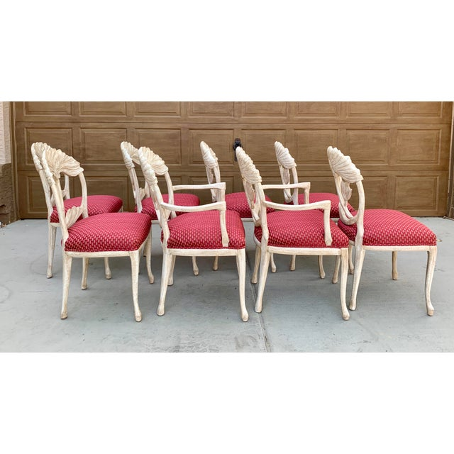 Art Nouveau Style Carved Dining Chairs - Set of 8 For Sale In Phoenix - Image 6 of 12