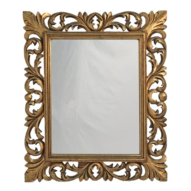 Italian Carved Wood & Gilt Mirror - Image 4 of 7