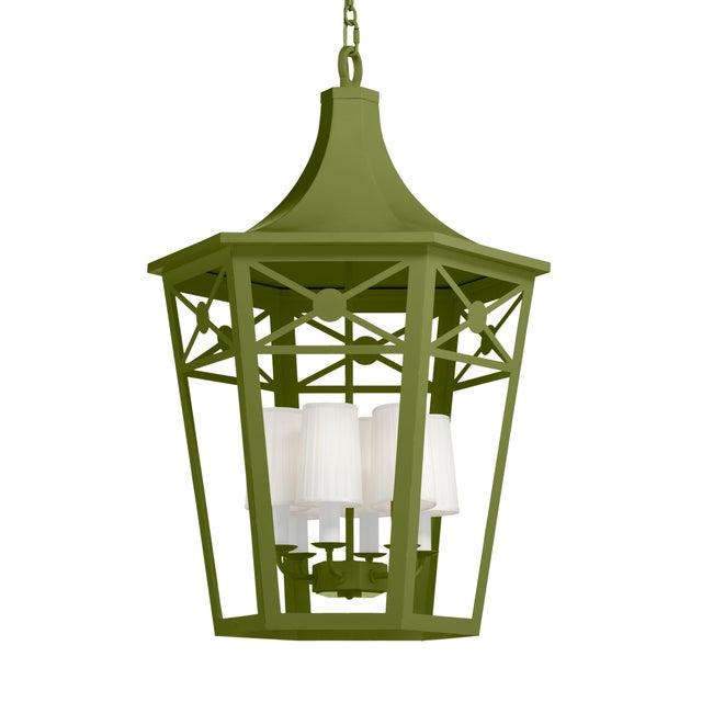 Casa Cosima Designers' Palette Bennington Lantern, Timson Green For Sale - Image 4 of 4