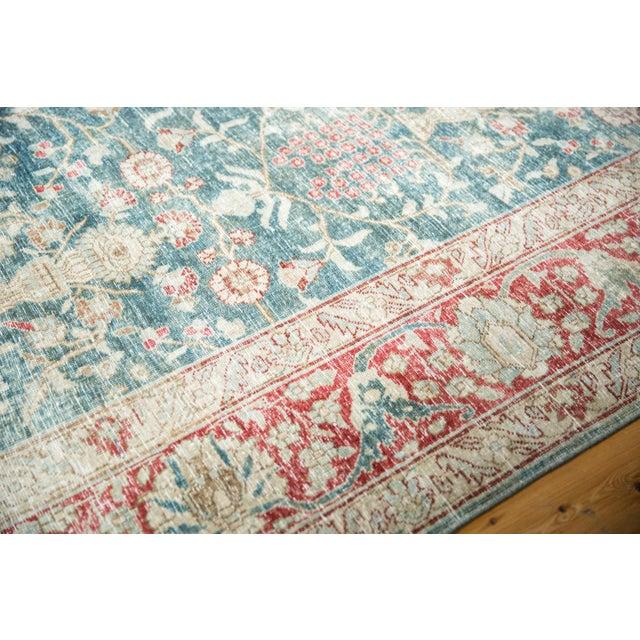 """Vintage Distressed Tabriz Carpet - 8'1"""" X 11'4"""" For Sale - Image 9 of 13"""