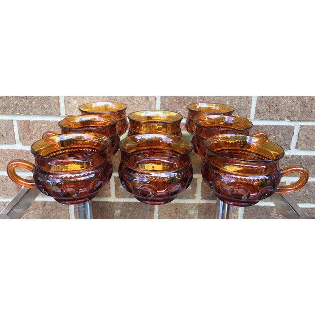 Vintage Amber Kings Crown Coffee Cups - Set of 20 - Image 6 of 6