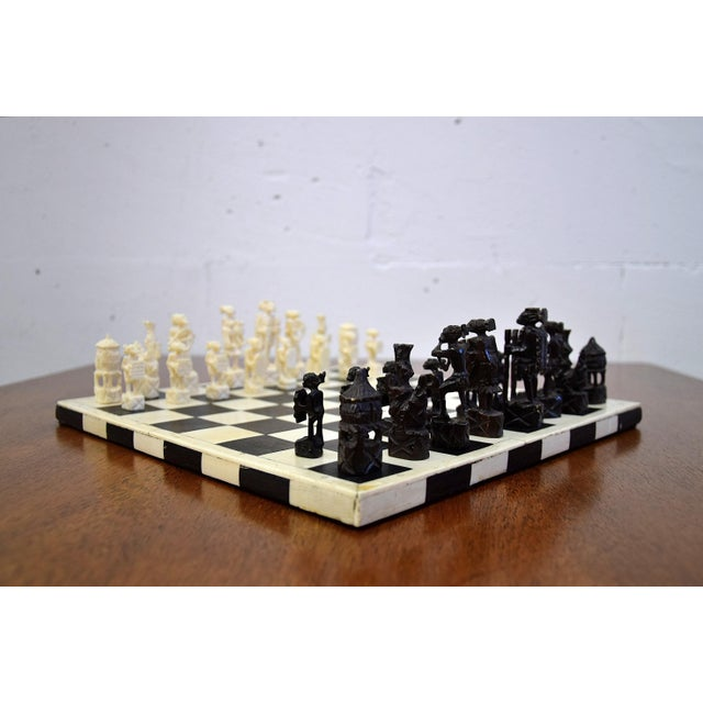 1930 Belgian Congo Ivory Chess Set For Sale - Image 6 of 10