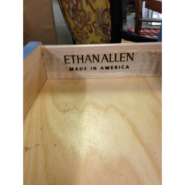 Ethan Allen Country Blue Vanity With Bench - Image 3 of 8