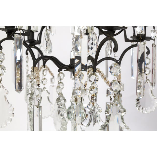 Multi Crystal Birdcage Chandeliers - a Pair For Sale - Image 10 of 13
