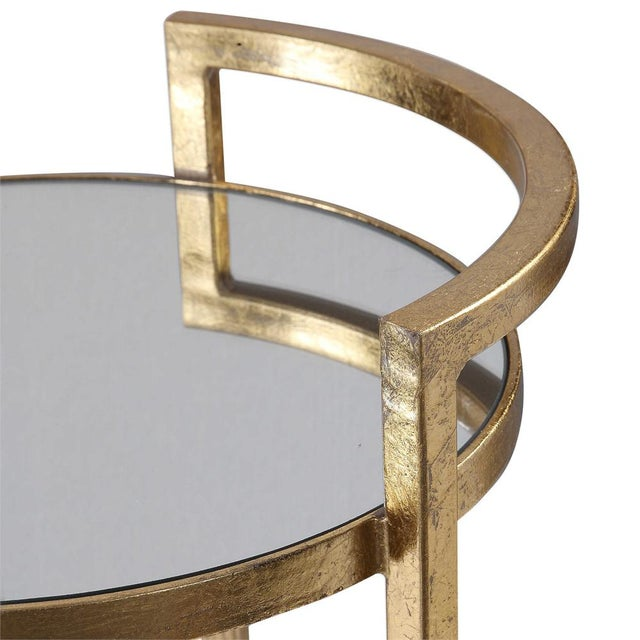 Regency Round Gold Drink Table For Sale - Image 4 of 5