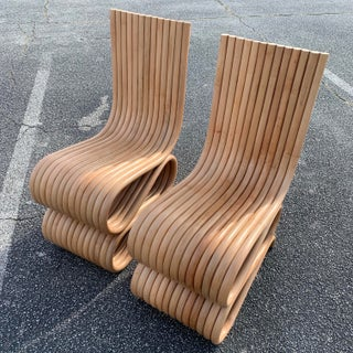 Frank Gehry Style Rattan Chairs- A Pair Preview