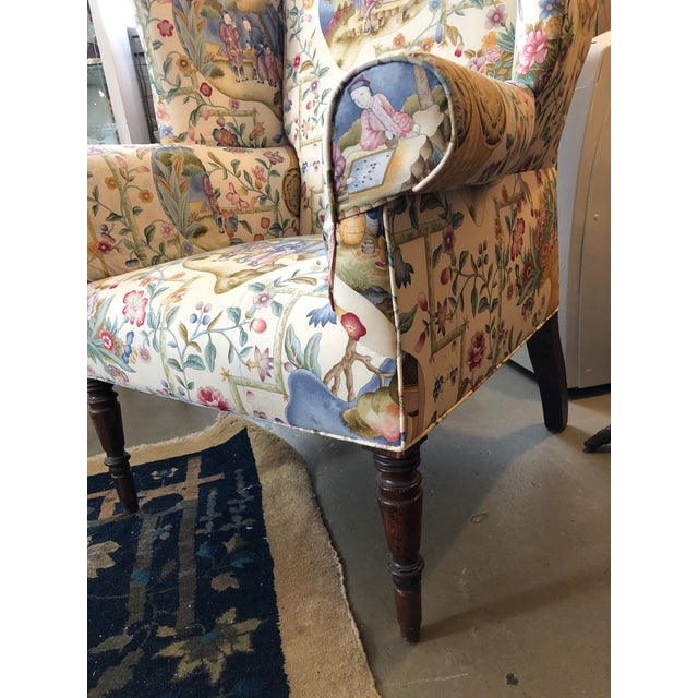 Early 19th Century Antique William IV English Wingback Armchair For Sale In Minneapolis - Image 6 of 10
