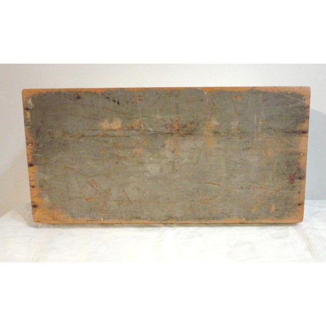 Wood 19th Century Original Grey Painted Large Candle Box from New England For Sale - Image 7 of 8