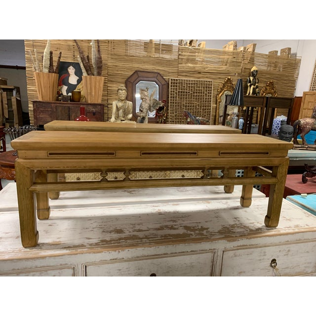 Early 21st Century Low Asian Bench For Sale - Image 5 of 7