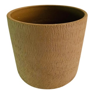 Mid Century Modern Gainey Ceramics Sgraffito Architectural Pottery Scratch Planter Pot For Sale