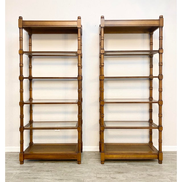 1950s Mid Century Modern Etageres Bookcases - a Pair For Sale - Image 6 of 6