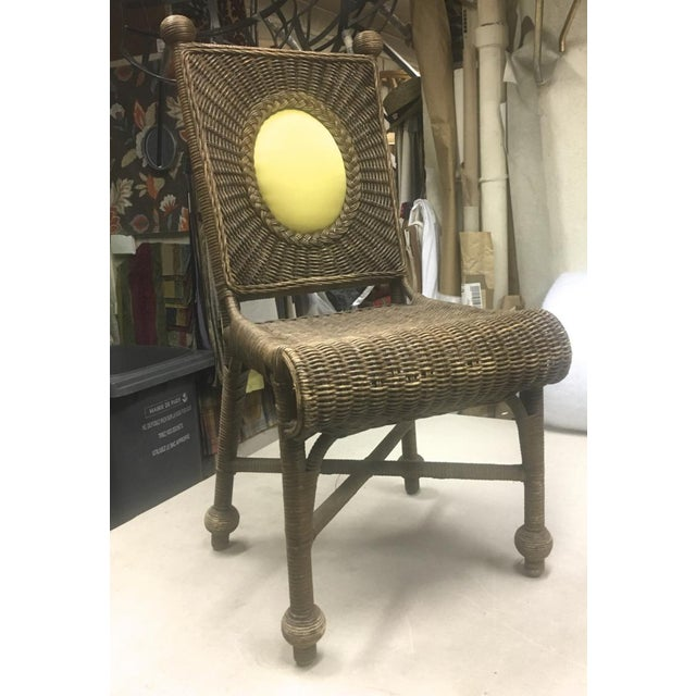 Set of 10 Rare 1940s Rattan Dining Chairs in Vintage Condition For Sale - Image 6 of 7