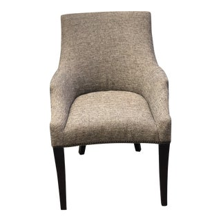 Modern Upholstered Traditional Chair For Sale