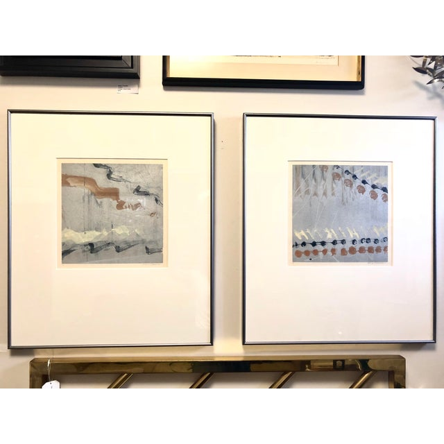 Syd Kramer Monotype Abstract Prints - a Pair For Sale - Image 11 of 11