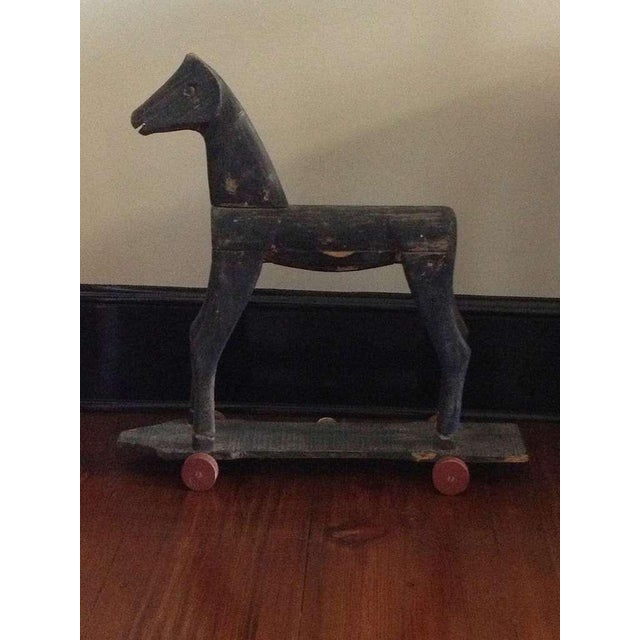 Mid 19th Century 19th Century Primitive French Carved Toy Horse For Sale - Image 5 of 6