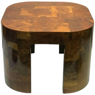 Paul Evans Signed Patch Work Burl Wood Coffee Table For Sale