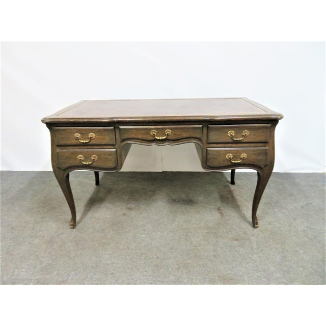 Louis XV Leather Top Writing Desk For Sale - Image 4 of 9