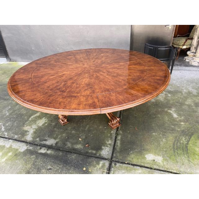 1970s Thierin Round Dining Table With Leaves For Sale - Image 4 of 13
