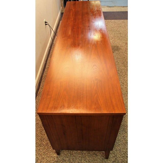 Mid-Century Danish Modern Walnut Credenza For Sale In Philadelphia - Image 6 of 11