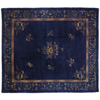 Early 20th Century Antique Chinese Peking Rug - 10′2″ × 11′7″ For Sale