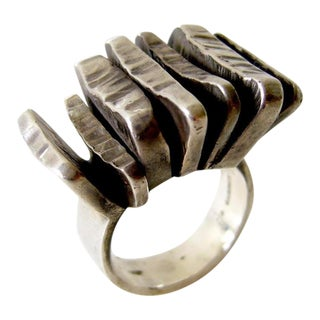 Rey Urban for A. Fausing Sterling Silver Scandinavian Ring For Sale