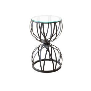 Modern Hourglass Side Table For Sale