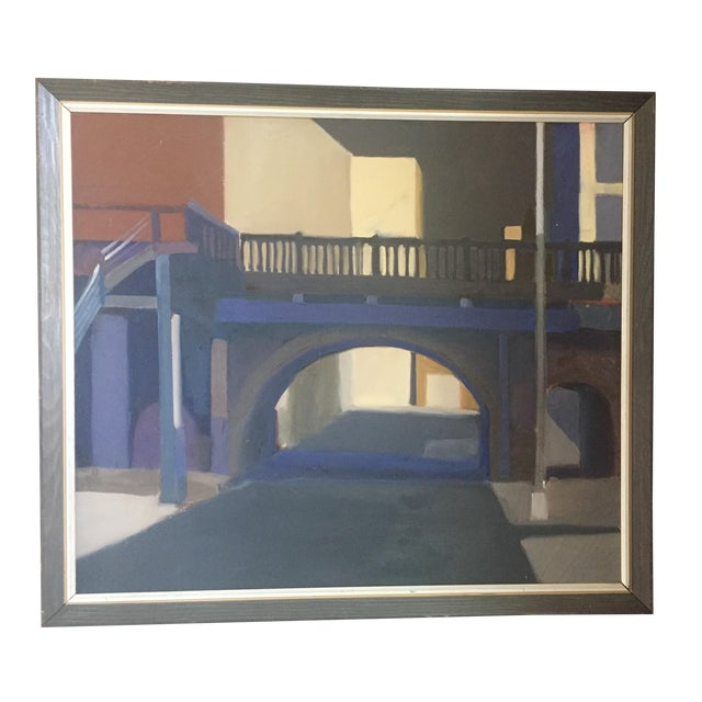 Mid-Century Original Painting For Sale