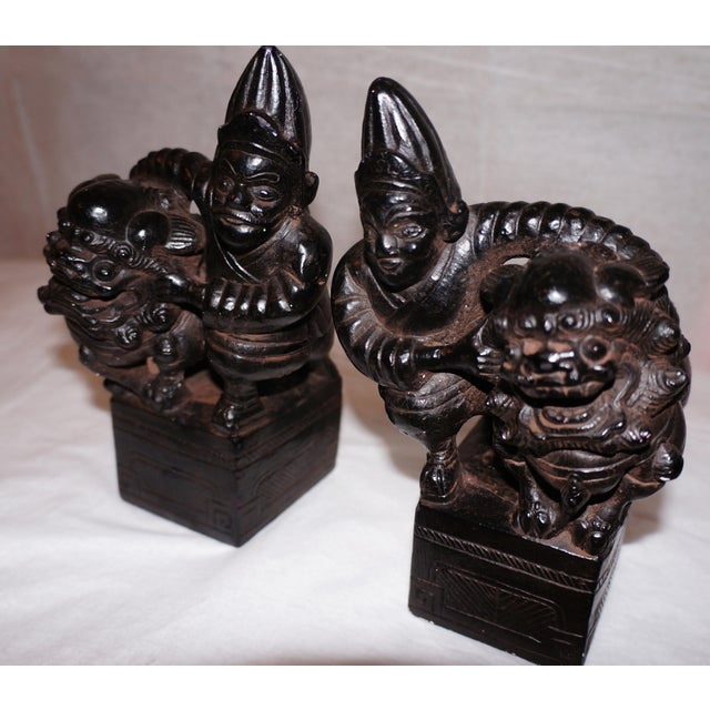 Asian Mid-Century Austin Productions Book Ends - A Pair For Sale - Image 3 of 8