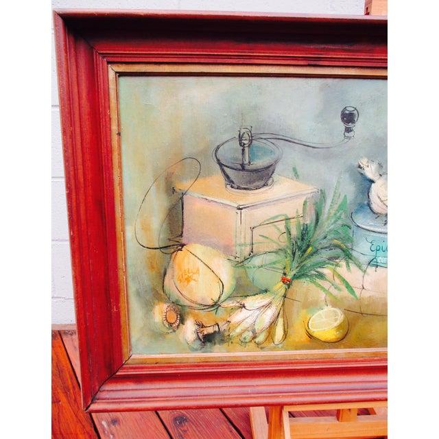 Modernist Abstract Ardoth Terrill Hughes Still Life Painting - Image 6 of 9