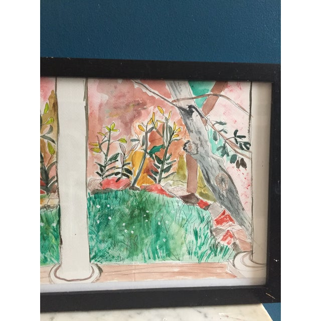 Contemporary Pen & Watercolor Painting - Image 4 of 6