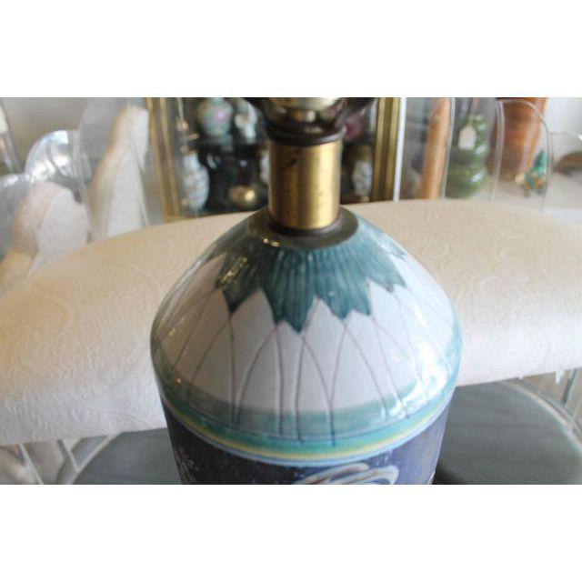 Marian Zawadsky for Tilgman Keramik Vintage Sweden Table Lamp For Sale - Image 10 of 11