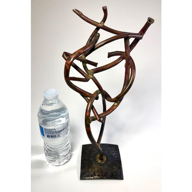 Abstract 1950s Vintage Abstract Copper Signed Sculpture For Sale - Image 3 of 6