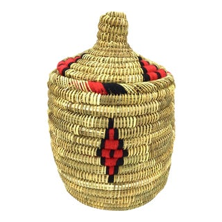 Red & Black Moroccan Basket