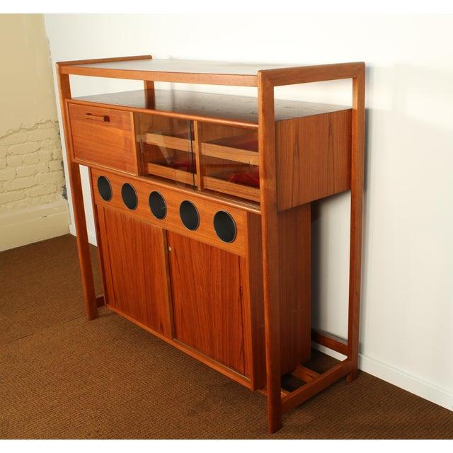 Danish Modern Dyrlund Danish Modern Teak Dry Bar For Sale - Image 3 of 10