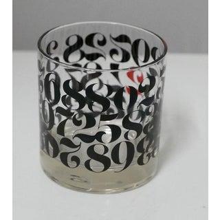 Vintage Numerical Digit Cocktail Glasses Preview