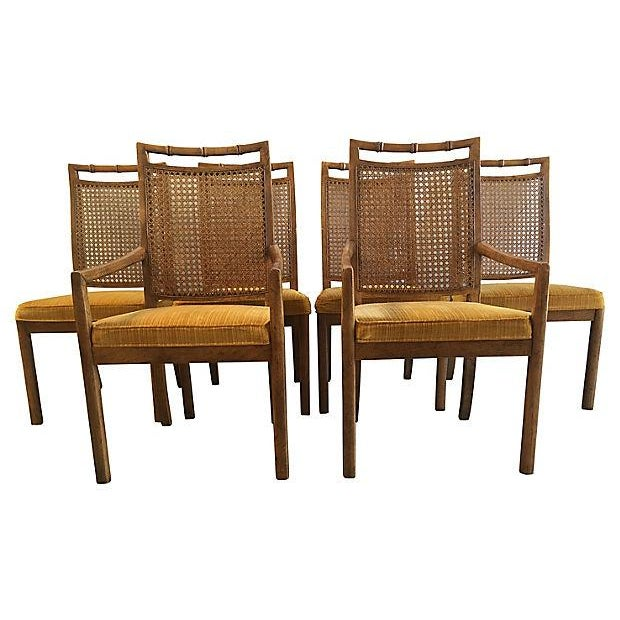 Heritage Faux Bamboo Dining Chairs - Set of 6 - Image 2 of 8