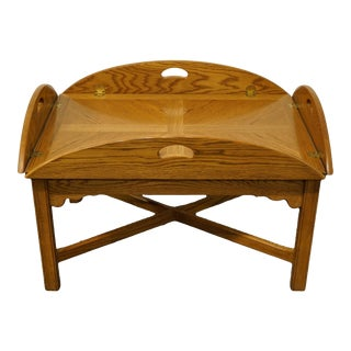 Thomasville American Oak Collection Butler's Coffee Table For Sale