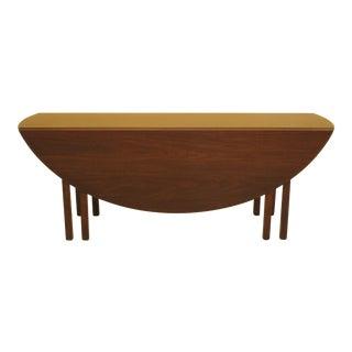 Kittinger Od1021 Drop Leaf Mahogany Dining Table