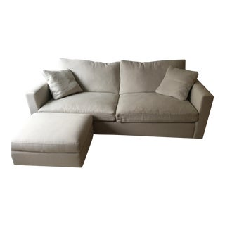 ABC Home Two Seater Sofa & Ottoman