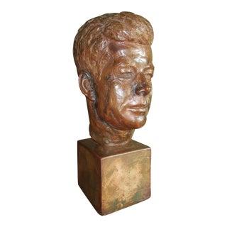 Vintage Mid Century John F. Kennedy Bust For Sale