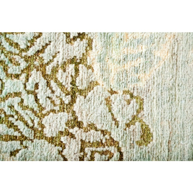 Contemporary One-Of-A-Kind Contemporary Transitional Hand-Knotted Runner Rug, Mint, 2' 10 X 9' 10 For Sale - Image 3 of 3
